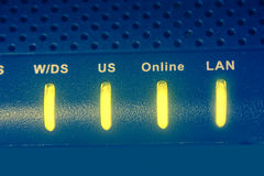 Модем интернета с светами Стоковое Фото