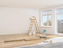 Модернизация квартиры перевод 3d стоковое фото