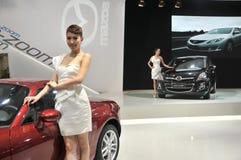 Модели выставки автомобиля Стоковая Фотография