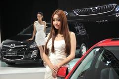 Модели выставки автомобиля Стоковые Фотографии RF