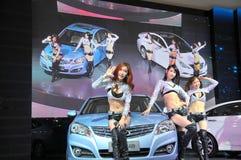Модели выставки автомобиля Стоковое Изображение