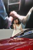 Модели выставки автомобиля Стоковое Фото