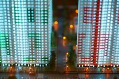 Модели домов с улицами и автомобилями Стоковые Фото