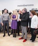 Модельер Rocco Barocco на день открытия первого магазина mono-бренда в России Стоковое Изображение RF