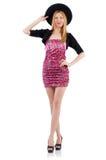 Модельная нося модная одежда стоковые фото