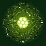 Модельные атомы углерода Физический характер вектор Стоковые Изображения RF
