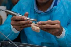 Модельные медицинские implants испытывая оборудование Стоковое Изображение RF
