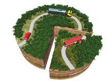 Модельные дороги Стоковое Изображение