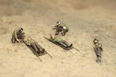 Модельные солдаты стоковая фотография rf
