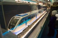 Модельный белый поезд Стоковое Фото