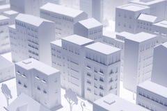 Модельный город Стоковые Изображения RF