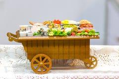 Модельный магазин масленицы тележки продовольственного магазина Стоковые Изображения RF