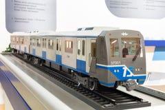 Модельный поезд на выставке на втором евроазиатском конгрессе и выставке ExpoCityTrans-2012 Стоковые Фотографии RF