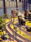 Модельный поезд с паром Стоковое Изображение