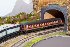 модельный поезд Стоковые Фото