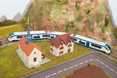 модельный поезд Стоковая Фотография