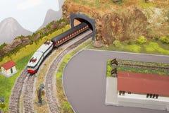 модельный поезд Стоковое фото RF