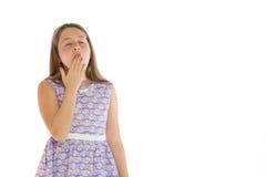 Модельный утомленный зевать Стоковая Фотография RF