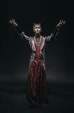 Модельный человек в костюме фантазии Стоковые Фото
