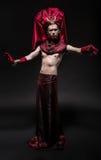 Модельный человек в костюме фантазии Стоковое Фото