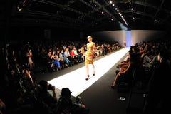 Модельный showcasing конструирует от Erdem на фестивале 2011 моды Audi Стоковое Фото