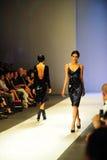 Модельный showcasing конструирует от Erdem на фестивале 2011 моды Audi Стоковое фото RF