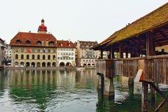молельня luzern Швейцария моста Стоковое фото RF