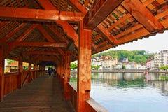 молельня luzern Швейцария моста Стоковая Фотография