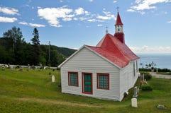 Молельня Tadoussac (самая старая канадская деревянная церковь) Стоковые Изображения