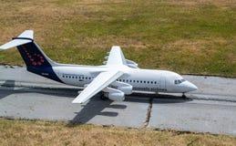 Модель авиакомпаний Брюсселя плоская Стоковые Фотографии RF
