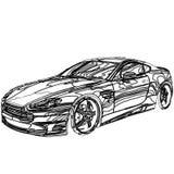 Модель автомобиля 3D Стоковые Фото