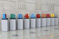 Модель арабских цифров Стоковая Фотография RF