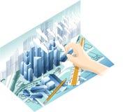 Модель архитектуры бесплатная иллюстрация