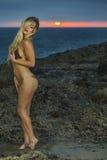 Модель бикини на пляже стоковые фото