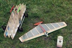 Модель воздушных судн RC на земле Стоковое фото RF
