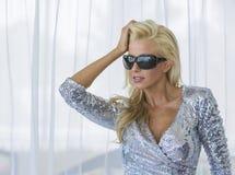 Модель в платье Стоковые Фотографии RF