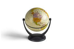 Модель глобуса в белой предпосылке Стоковое Изображение RF
