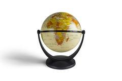 Модель глобуса в белой предпосылке Стоковое фото RF