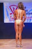 Модель женской диаграммы показывает ее самое лучшее на чемпионате на этапе Стоковое фото RF