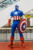 Модель капитана Америки Стоковая Фотография