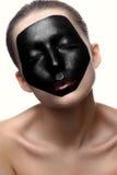 Модель красоты женская с темной стороной и сияющими губами Стоковая Фотография RF