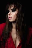 Модель красоты моды с закоптелыми глазами Стоковое Фото
