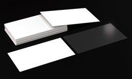 Модель-макеты карточки посещения на темной предпосылке Стоковое Изображение