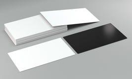 Модель-макеты карточки посещения на яркой предпосылке Стоковое Изображение RF