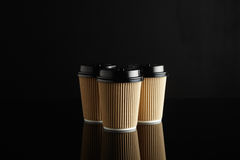 Модель-макеты кофейной чашки Брайна на вынос Стоковая Фотография RF