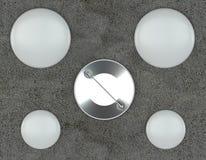 Модель-макеты Pin на конкретной предпосылке Стоковые Фото
