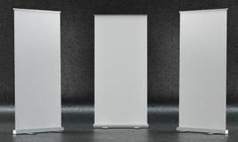 Модель-макеты Rollup на темной лоснистой предпосылке Стоковая Фотография RF