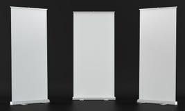 Модель-макеты Rollup на черной предпосылке Стоковые Фотографии RF
