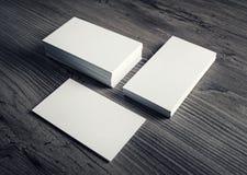 Модель-макет визитных карточек Стоковое Изображение