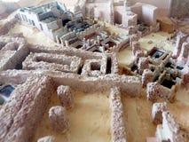 Модель-макет в залах раскопок музея руин Карфагена Туниса Африки Стоковая Фотография